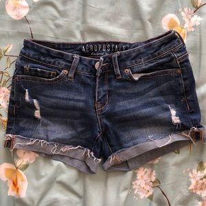 Aeropostale frayed shorts